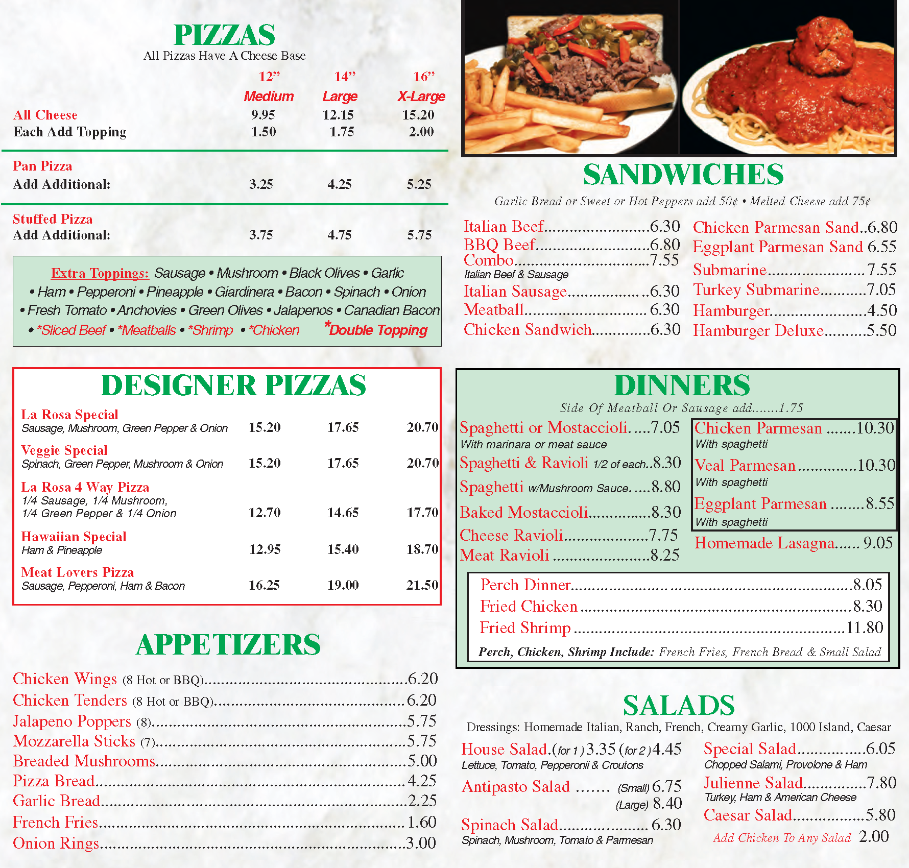 La Rosa Pizza On Golf Home Of Italian Beef Recipes Restaurant Listings And Reviews
